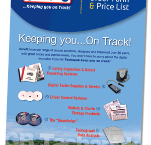 Tachograph Stationery Price List